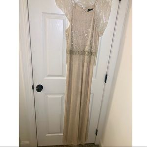 Adriana Papell Beaded Blouson Gown (size 10)